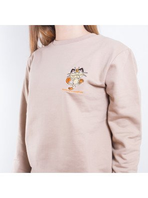 Crewneck Hype Meowth Embroidery Wmns Sand