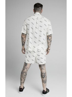 SIKSILK REPEAT PRINT RESORT SHIRT