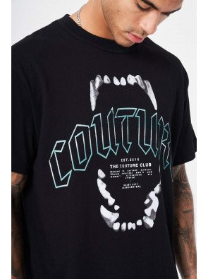 COUTURE TEETH GRAPHIC T-SHIRT