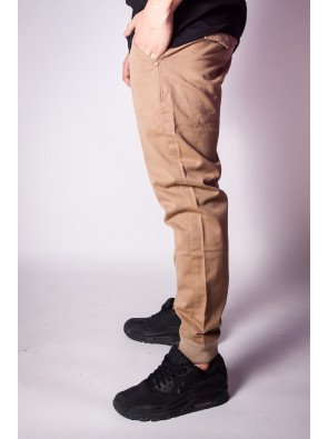 Nohavice Backyard Cartel Spodnie Band Jogger Fit Brown