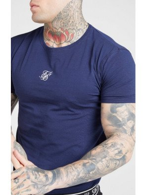 SikSilk (2 Pack) Lounge Tee White Navy
