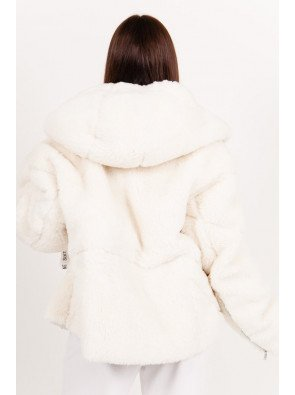Sherpa Oversized Bicolored Jacket Off-white