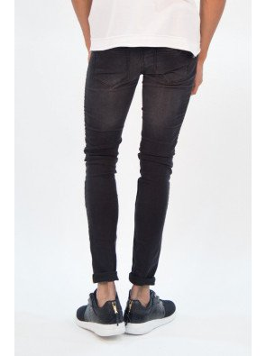 Jeans Sixth June Biker Slim Black