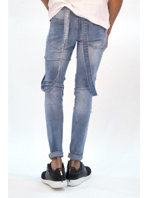 Jeans Sixth June Dungaree Biker Blue