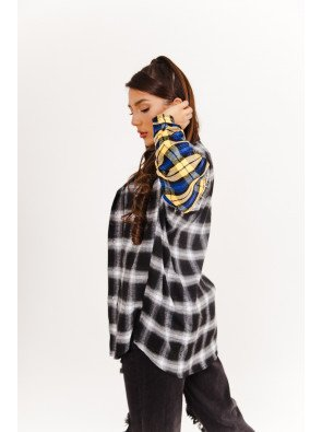 SIXTH JUNE BICOLOR TARTAN OVERSIZED SHIRT