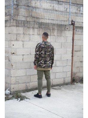 Crewneck Sixth June Destroy Camouflage Khaki