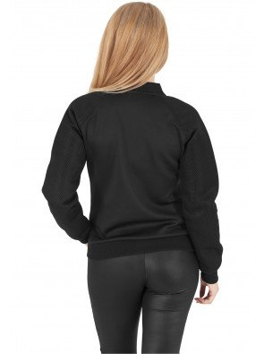 Bunda Urban Classics Ladies Scuba Raglan Mesh Black