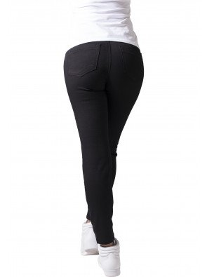 Jeans Urban Classics Ladies Stretch Biker Pants Black