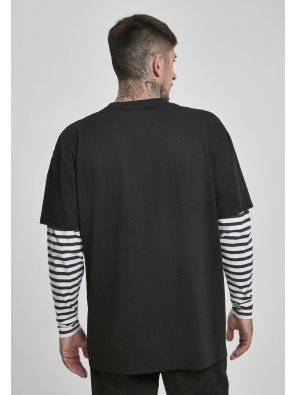 Oversized Double Layer Striped