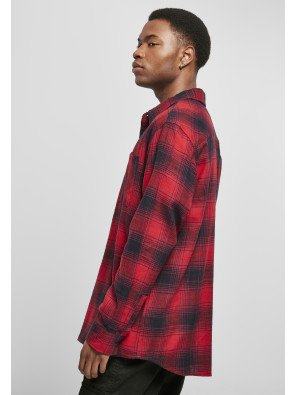 Oversized Checked Grunge Shirt