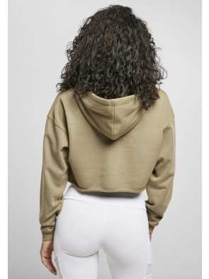 Ladies Oversized Cropped Hoody