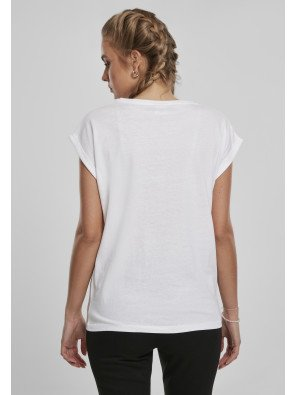 Ladies Extended Shoulder Tee 2-Pack black/white