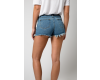Kraťasy Liquor n Poker Topeka Raw Hemline High Waisted Distressed Blue