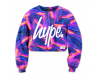 Mikina Hype Liquid Lava Crop Crew Sunset Violet