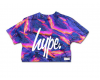 Tričko Hype Liquid Lava Crop Sunset Purple Multi