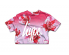 Tričko Hype Liquid Lava Crop Speckle Rose Sunset Pink