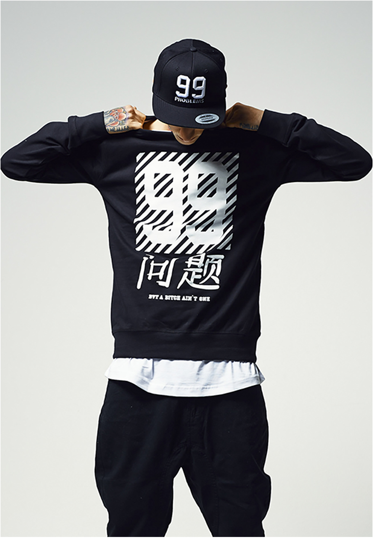 Crewneck Mister Tee Chinese Problems Black L