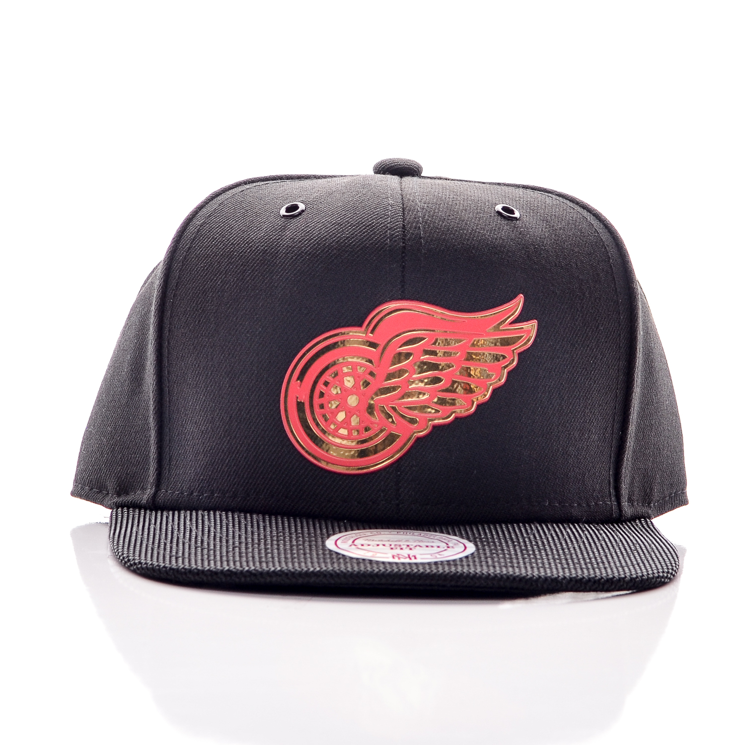 Snapback Mitchel & Ness Detroit Red Wings Black