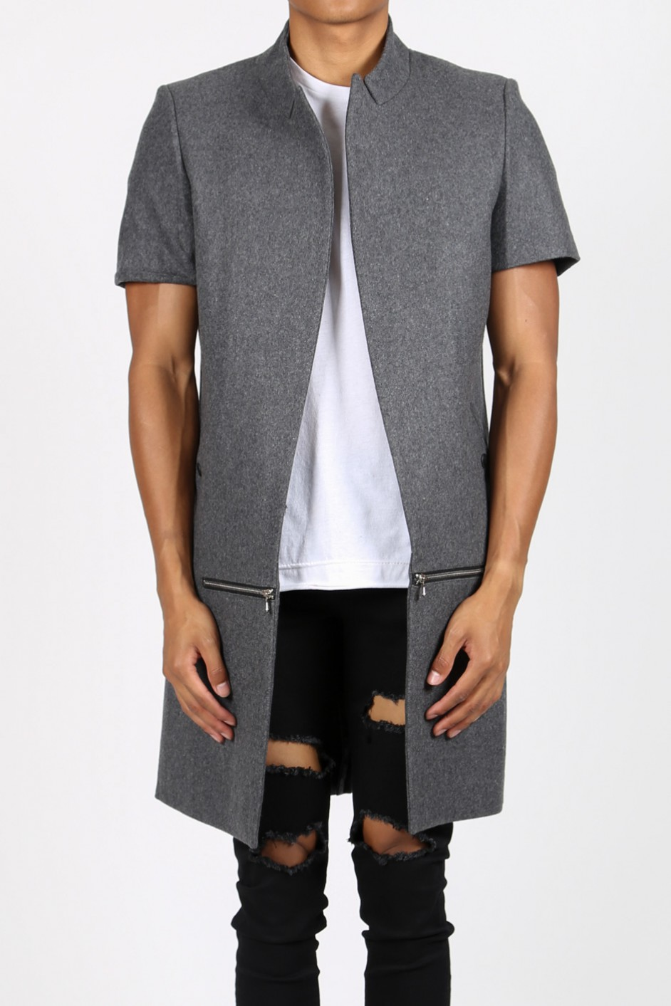 Kabát Sixth June Short Sleeves Grey L