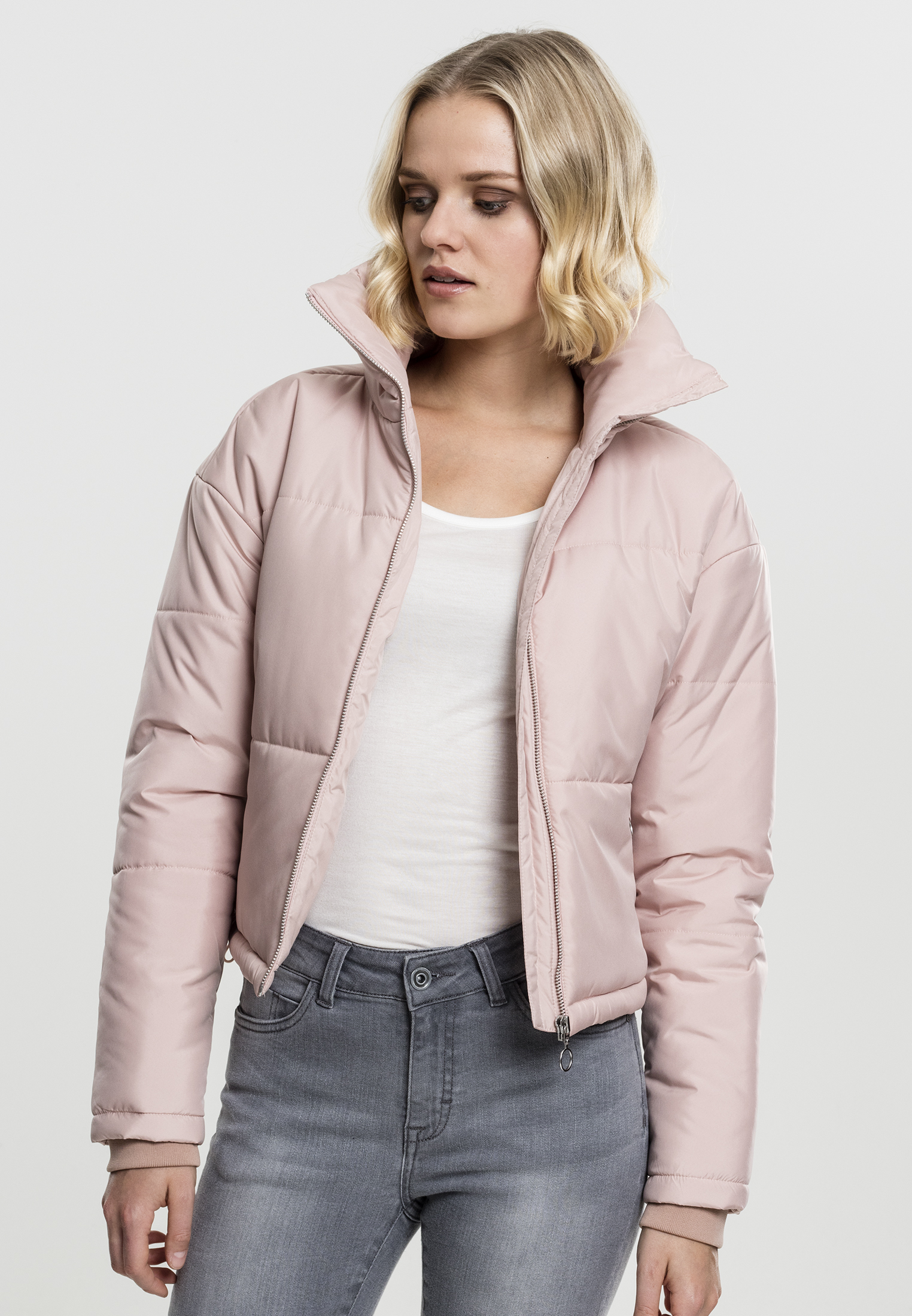 Bunda Urban Classics Oversized High Neck Rose L